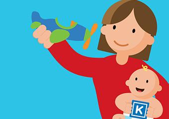 Imagem ilustrativa da solução Kinedu: app para brincar e aprender com crianças de até 4 anos
