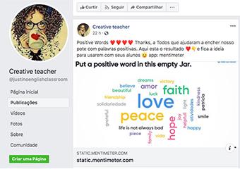 Imagem ilustrativa da solução Professora de inglês enfrenta quarentena com app, canal de YouTube e página no Facebook