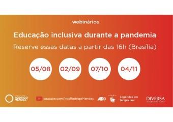 """Imagem ilustrativa da solução Instituto Rodrigo Mendes e DIVERSA promovem série de webinários """"Educação inclusiva durante a pandemia"""""""