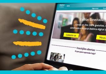 Imagem ilustrativa da solução 'Plataforma Escolas Conectadas' oferece cursos online e gratuitos para professores da educação básica