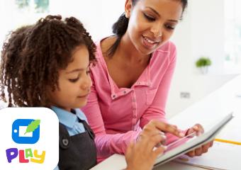 Imagem ilustrativa da solução Escribo Play: jogos pedagógicos que fortalecem a leitura e a escrita das crianças